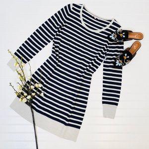 GAP Striped Long Sleeve Sweater Dress
